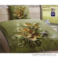 3D povlečení polybavlna 140x200 + 70x90 - Jezerní květ :: TopProstěradla.cz Green, Painting, Art, Craft Art, Paintings, Kunst, Gcse Art, Draw, Drawings