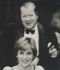 1979 Diana with her father before a formal event at Althorp