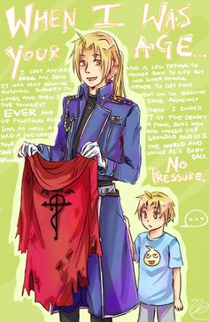 FMA- when i was your age by Clicio.deviantart.com on @deviantART ---- haha, no pressure.