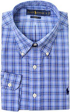 POLO RALPH LAUREN Polo Ralph Lauren Men'S Slim-Fit Plaid Oxford Button Down Shirt. #poloralphlauren #cloth #