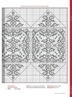 Three Sided Christmas Ornament • 3/3 Chart for RHS