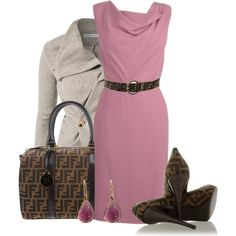 Pink and Brown - Polyvore