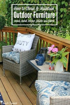 Protect Your Investment And Learn How To Care For Your Outdoor Furniture.  Great Tips On