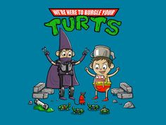 Turt Burgle T-Shirt - Over the Garden Wall T-Shirt is $15 at TeeFury!