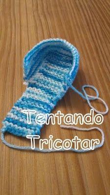 Tentando Tricotar: Mocassin em tricot para bebê