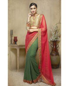 Stutti Fashion Exculsive Green Color Saree At Rs.2599