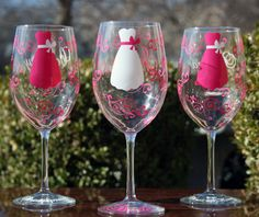 Set of 6 Personalized Bridesmaid Wine by SweetSouthernCompany, $60.00