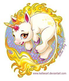 Fire Unicorn by KelleeArt on deviantART