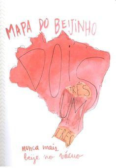 mapa do beijinho