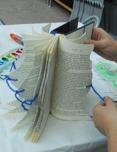 The Peabody Essex Museum did an altered book workshop and the results ranged from creating a 3-D mobile to imaginative collages.