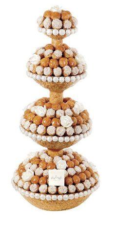 Frivolous Fabulous - Profiteroles and Pink Tea in Paris Croquembouche, Profiteroles, Eclairs, French Wedding Cakes, Cake Wedding, Beautiful Cakes, Amazing Cakes, Dad Cake, Food Sculpture