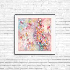 Colorful Abstract art Urban Modern style Contemporary Geometric art Square Rhombus Poster Wall art Room decor Triangles Gift Line art Colorful Abstract Art, Geometric Art, Poster Wall, Triangles, Contemporary, Modern, Line Art, Fine Art Prints, Room Decor