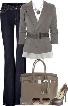Business Mode Damen -halten Sie Schritt mit den aktuellsten Trends – Gray busin… Business fashion women – keep up with the latest trends – Gray business casual outfit Source by melaniepissarcz – Cute Business Casual, Business Casual Outfits, Business Style, Business Women, Business Formal, Business Travel, Business Fashion, Business Outfit Frau, Business Attire