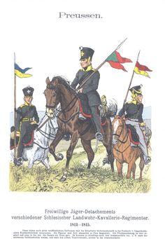 Vol 12 - Pl 29 - Preußen. Freiwilliges Jäger-Detachements verschiedener Schlesischer Landwehr-Kavallerie-Regimenter. 1813-1815.