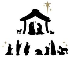 Nativity scene decals by Davet Designs