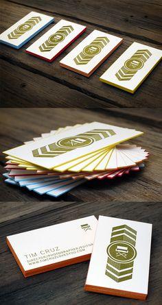Creative Edge Painted Letterpress Business Card Design