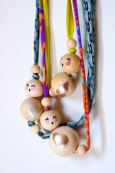 mini dolls collection -necklaces by Artoleria, via Flickr