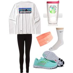 """OOTD"" by milakay on Polyvore   tiffany free runs 3 ,tiffany blue nikes outfit for runner, all nike shoes for over 53% off"