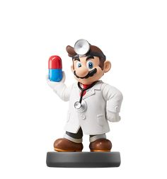 "Dr. Mario In the 1990 Dr. Mario™ game, Mario™ threw on a white coat and decided to take a shot at that whole ""medicine"" thing. Dr. Mario destroys killer viruses with his amazing vitamin capsules and spends day and night in his laboratory working on new miracle cures. Somehow he's managed to keep up with all the new viruses that have arisen over the years."