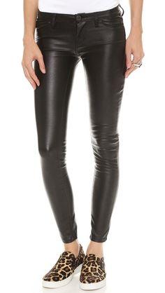 Blank Denim Vegan Leather Skinny Pants. I need them so badly!