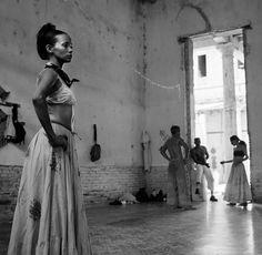 Cuban Dancer in reflection