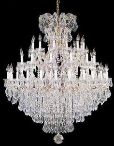 """Large Foyer / Entryway Maria Theresa Empress Crystal (Tm) Chandelier Lighting H 60"""" W 52"""" - A83-Gold/2756/36+1"""