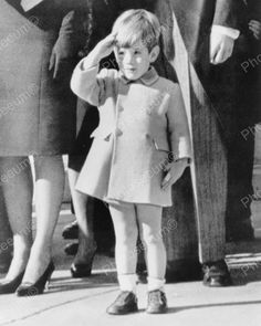 John Kennedy Jr. Tot Salutes Dads Funeral Vintage 1960s Reprint 8x10 Old Photo
