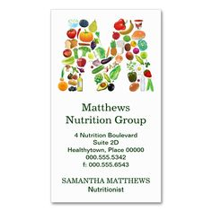 Nutritionist Monogram M Appointment Business Card. This is a fully customizable business card and available on several paper types for your needs. You can upload your own image or use the image as is. Just click this template to get started!