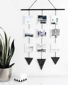 Finally printed some Instagrams with @snapboxprints and it is SWELL . Made this simple wall hanging to display them on- tutorial is on the blog today! homeyohmy.com #homeyohmy