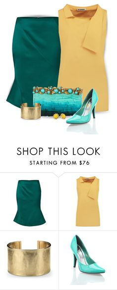 """""""Touch of Flare"""" by stileclassico ❤ liked on Polyvore featuring Jil Sander, Blue Nile, Red Circle, Kate Spade, skirt and flare"""