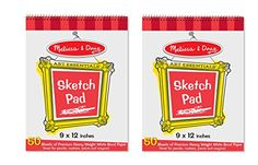 Melissa  Doug Sketch Pad 9 x 12 inches  50 Sheets 2Pack