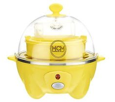 Eggspress Egg Cooker & Poacher by MarkCharles Misilli K-330370 On QVC for $19.98 - comes in red, yellow, PuRpLe, blue, & black