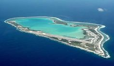 Wake Island, South Pacific - check out the runway. Midway Atoll, Places To See, Places Ive Been, Wake Island, Marshall Islands, South Pacific, Aerial Photography, Aerial View, Beautiful Places