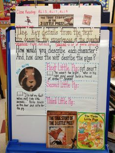 The True Story of the Three Little Pigs - anchor chart (in progress)