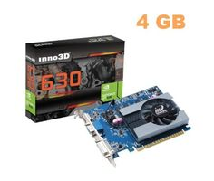 Inno3D nvidia Geforce GT630 4GB DDR3 HDMI DVI VGA video graphics card PCI express pcie x16 HD 1080P windows 7/vista/XP by Inno3D. $81.75. The Inno3D GT630 4GB DDR3 graphics card features NVIDIA® PhysX® technology to bring games to life with dynamic, interactive environments. The incorporated NVIDIA SLI technology supercharge performance with up to 2x gaming performance compared to integrated graphics processors. With 96 CUDA cores and the latest GeForce drivers you'...