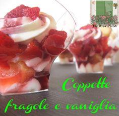 Coppette fragole e vaniglia