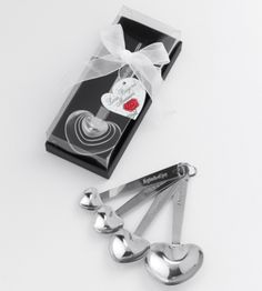 Personalized Heart Measuring Spoons | Heart Shaped Measuring Spoons