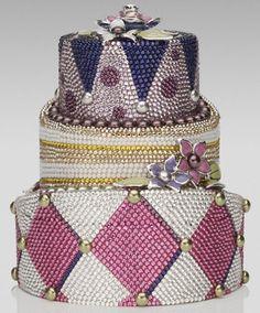 Judith Leiber cake purse
