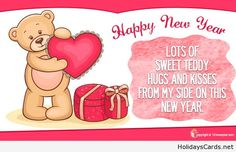 Hugs and kisses new year card