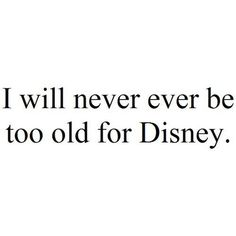 Yes never!