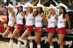Sexy Jim Beam pitlane babes at V8 races