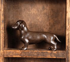 cast iron dachshund