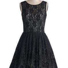 Chi Chi London LBD Long Sleeveless Fit & Flare Cherished Celebration Dress in Black