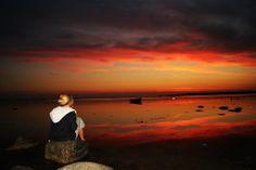 Solnedgang ved Isefjorden