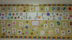 Excellent idea for getting the creative process started. From the book THE DOT by Peter Reynolds Learning LLC Kindergarten Art, Preschool Art, Classroom Displays, Art Classroom, Library Lessons, Art Lessons, Library Ideas, Peter Reynolds, Art Doodle
