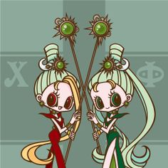 Sailor Moon / Sailor Phi and Sailor Chi