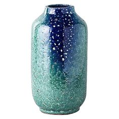 Charged with coastal blues, the Capsule Ponte Glaze Vase from Have You Met Miss Jones instils alluring colour and handmade technique in your décor.