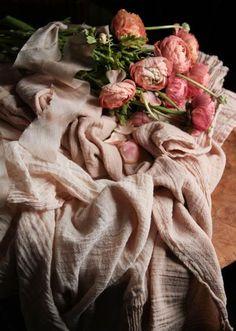 Plant Dyed Handloom Table Runner {Peaches & Cream}