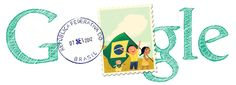 Brazil Independence Day 2012 [День независимости Бразилии] /This doodle was shown: 07.09.2012 /Countries, in which doodle was shown: Brazil