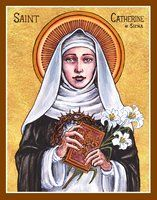 St. Catherine of Siena icon by Theophilia on deviantART